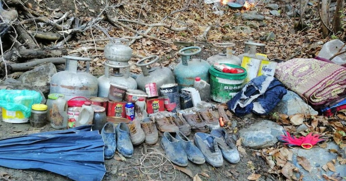 Bitlis'te PKK'ya ait malzemeler ele geçirildi