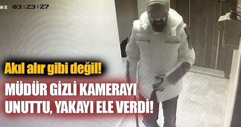 Takma sakal takıp, müdürü olduğu firmadan 1 milyon lira çaldı