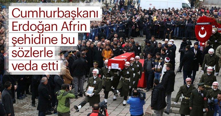 Cumhurbaşkanı Erdoğan Erzurum'da şehit Muhammed Kır'ın cenaze törenine katıldı