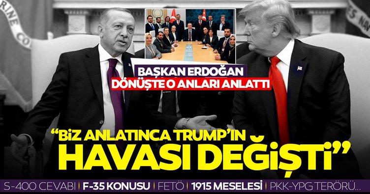 Başkan Erdoğan gazetecilere ABD ziyaretini anlattı