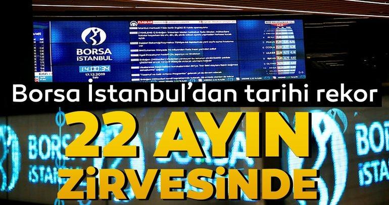 Son dakika: Borsa İstanbul 22 ayın en yüksek seviyesine ulaştı