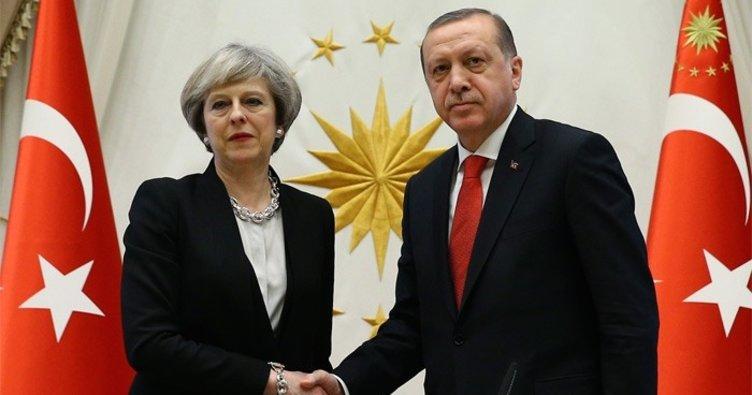 Başkan Erdoğan İngiltere Başbakanı ile görüştü