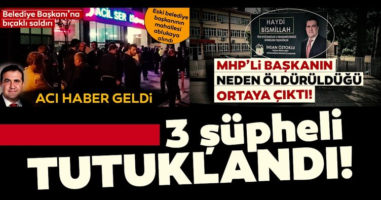Konya'da MHP'li belediye başkanını öldüren 3 şüpheli tutuklandı