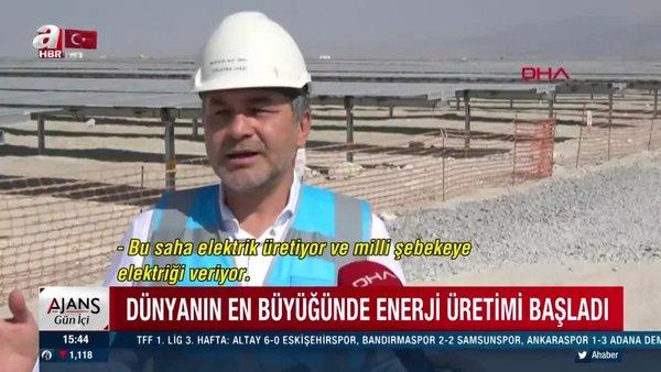 Konya Karapınar dünyanın en büyüğü olan Karapınar Güneş Enerjisi Santrali'nde enerji üretimi başladı | Video