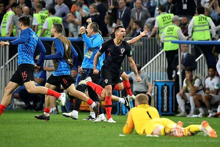 Hırvatistan - İngiltere maçından kareler
