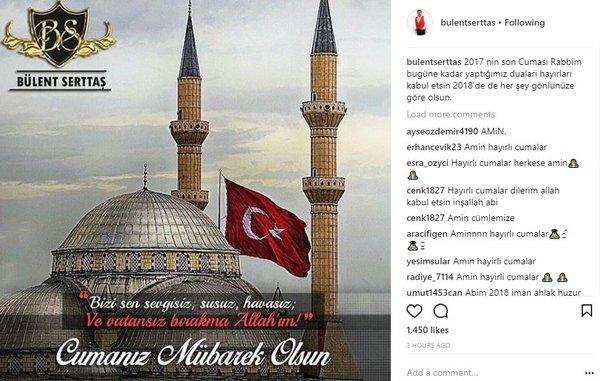 Ünlü isimlerin Instagram paylaşımları (29.12.2017)