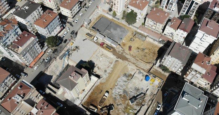 Kartal'da yeni binalar için ilk temel atıldı