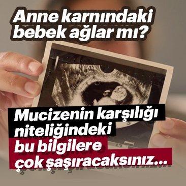 Anne karnındaki bebek ağlar mı?