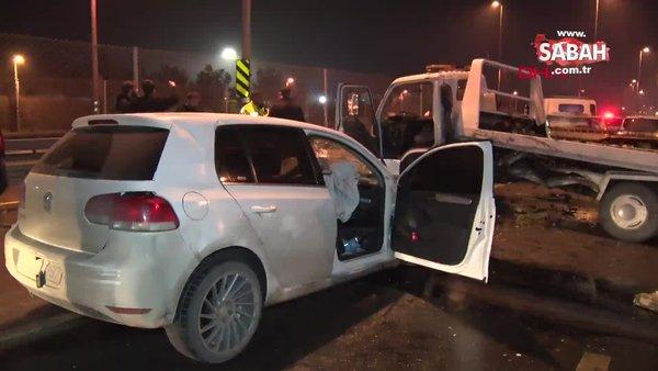 Avcılar'da polisten kaçan şüpheliler kaza yaptı   Video