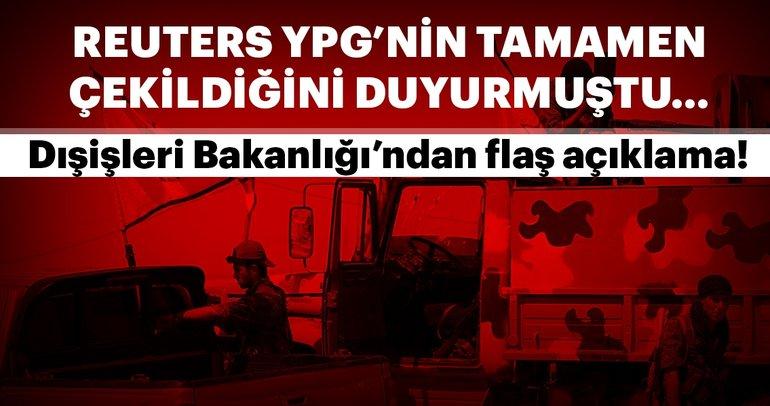Dışişleri Bakanlığı'ndan flaş PYD/YPG açıklaması