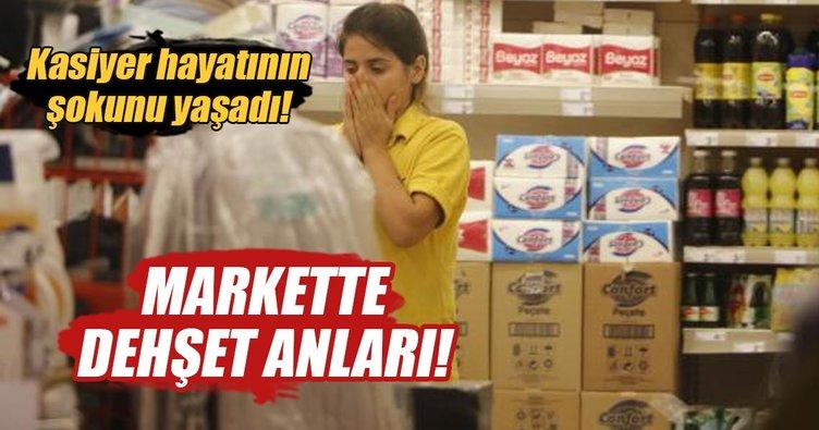Antalya'da markette dehşet anları!