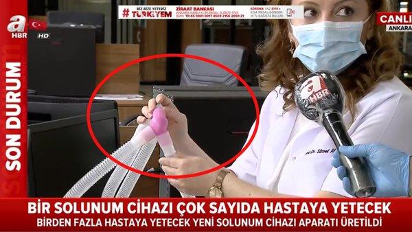 Corona virüsü hastalarının hayatını kurtaracak yerli üretim aparat canlı yayında görüntülendi   Video