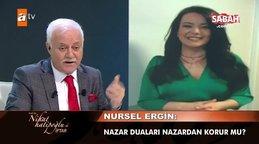 Nursel Ergin'den Nihat Hatipoğlu'na nazar sorusu   Video