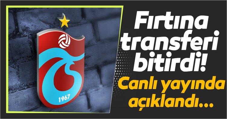 Trabzonspor transferi bitirdi! Canlı yayında...