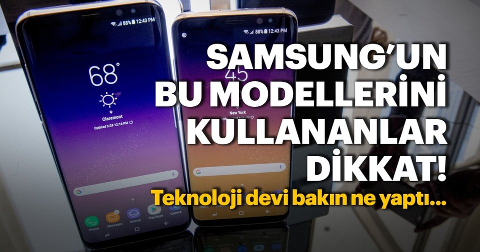 Samsung Galaxy S8 ve Galaxy S9'a güncelleme geldi - Haberler