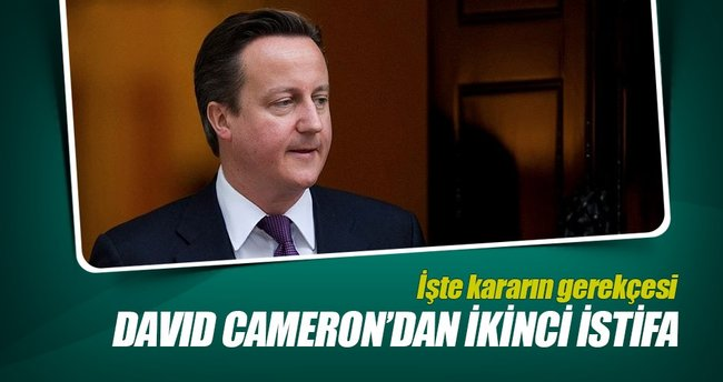 David Cameron'dan ikinci istifa