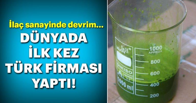 İlaç sanayinde devrim! Dünyada ilk kez Türk firması yaptı