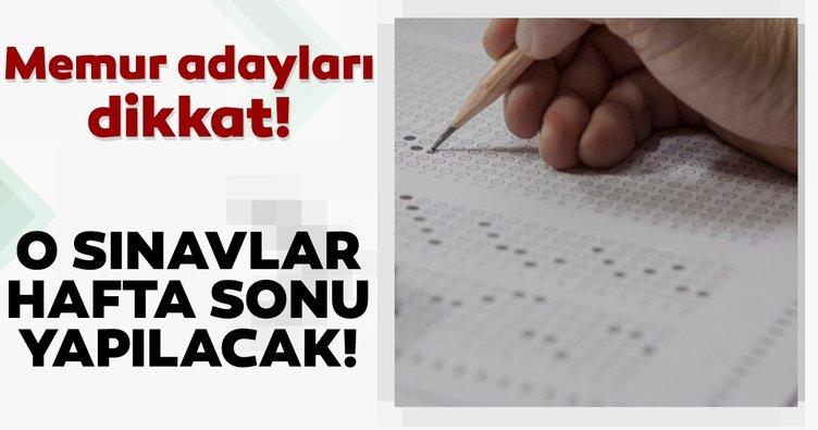Son dakika haberi: Memur adayları dikkat! Adalet Bakanlığı sınavları hafta sonu yapılacak