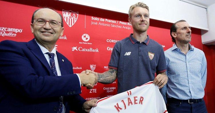 Kjaer Sevilla'ya imzayı attı