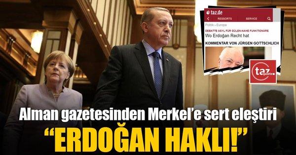 Alman gazeteden Merkel'e sert eleştiri