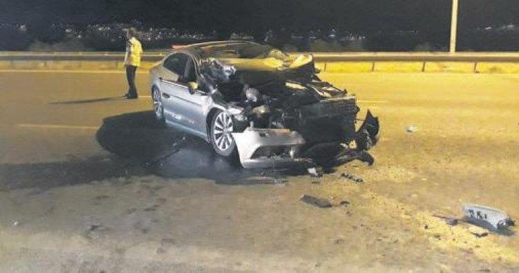 Çevre yolunda kaza: 1 yaralı