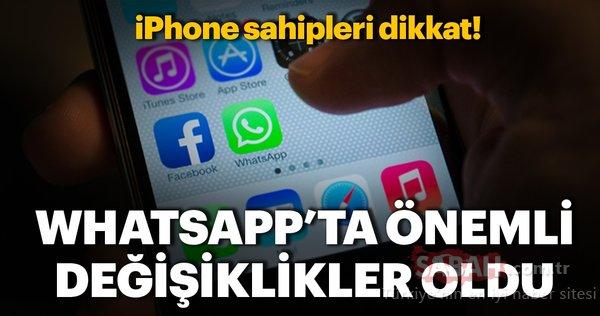 WhatsApp'ın iOS sürümü güncellendi! iPhone'a yeni özellikler geldi