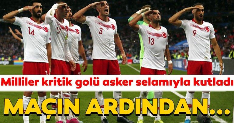 Fransa - Türkiye maçında coşku dolu anlar! A Milliler golü asker selamı ile kutladı, maçtan sonra ise...
