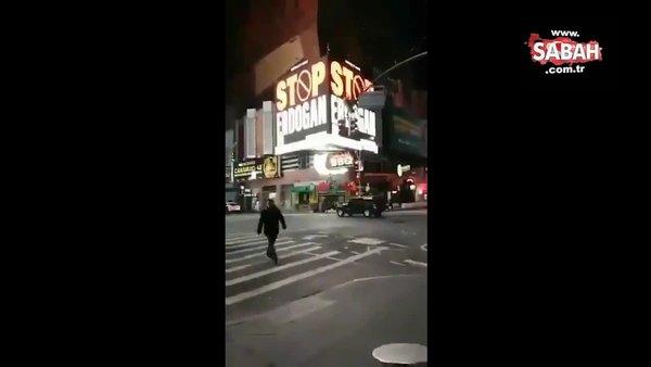New York sokaklarında skandal Erdoğan reklamları! | Video