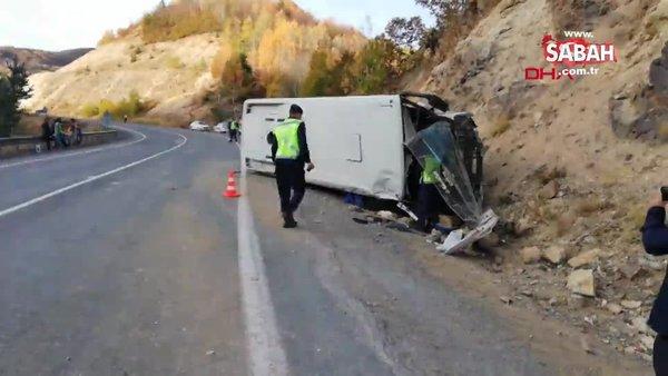 Son dakika: Sivas'ta yolcu midibüsü kaza yaptı! Çok sayıda yaralı var | Video