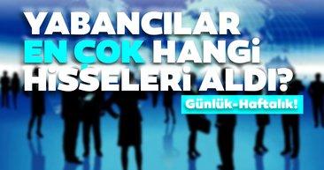 Borsa İstanbul'da günlük-haftalık yabancı payları 14/08/2020