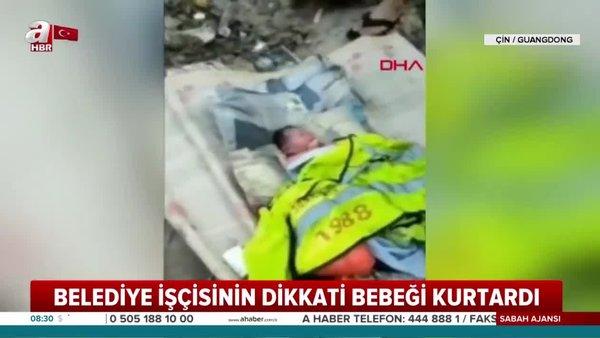Vicdansız anne-baba yeni doğan bebeğini çöpe attı!