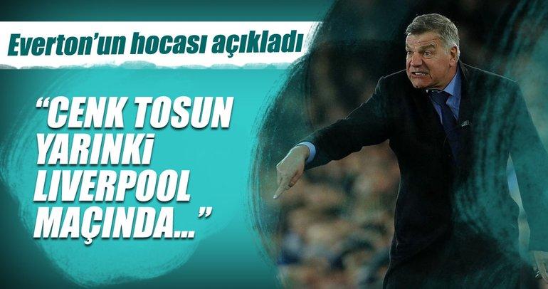 Allardyce'den son dakika açıklaması: Cenk Tosun Liverpool maçında...