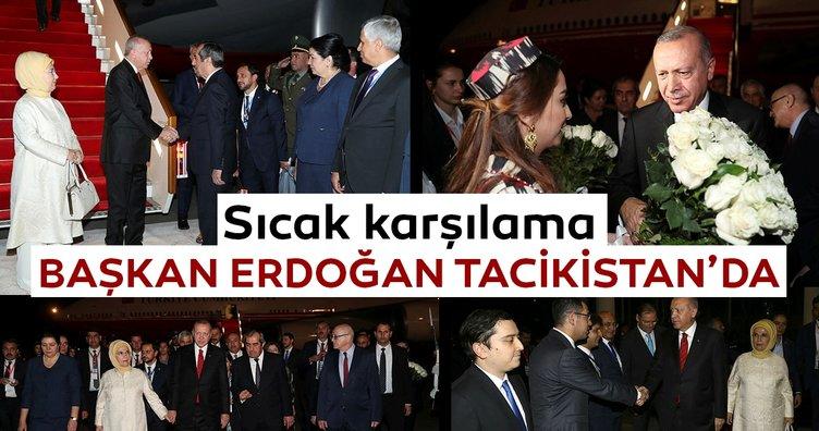 Başkan Erdoğan, Tacikistan'da