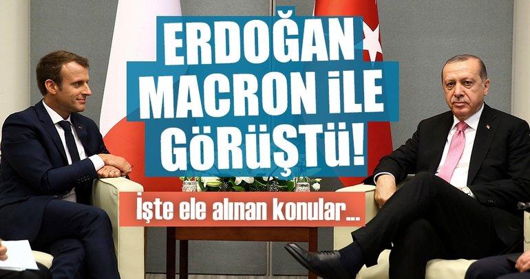 Cumhurbaşkanı Erdoğan Macron'la görüştü