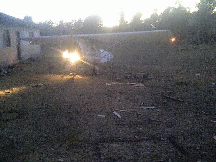 Pilot olamadı kendi uçağını yaptı!