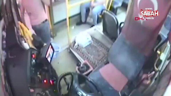 Otobüsü durdurup ayakkabısının bağcıklarını bağladı! Adeta şoförün sabrını sınadı | Video