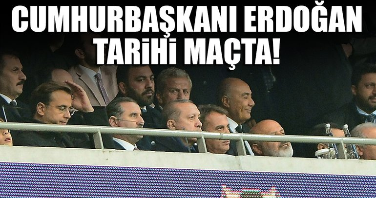 Cumhurbaşkanı Erdoğan, Vodafone Park'ta