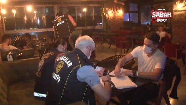 Kafe baskınında şoke eden görüntü. Bir yanda nargile bir yanda fizik tedavi | Video