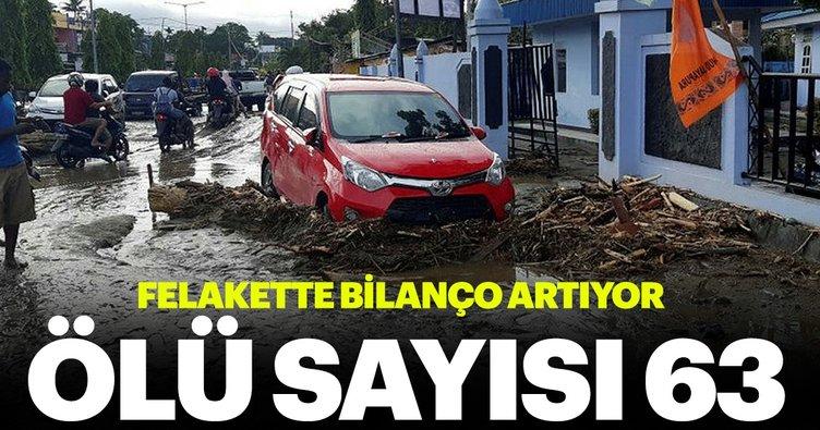 Endonezya'da sel felaketi: 63 ölü, 21 yaralı