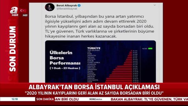 Son dakika: Hazine ve Maliye BakanıBerat Albayrak'tan flaş Borsa İstanbul ve TLaçıklaması | Video