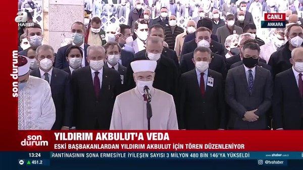 Cumhurbaşkanı Erdoğan, eski Başbakanlardan Yıldırım Akbulut'un cenaze namazına katıldı