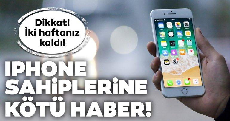 Apple'dan eski iPhone sahiplerine kötü haber! Bu iPhone modellerinin fişi çekiliyor! İki haftanız kaldı