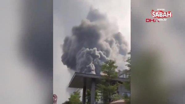 Son dakika: Çin'de Huawei laboratuvarında dev yangın | Video