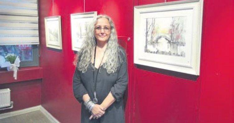 Sanatçı Hümeyra'nın sulu boya sergisi