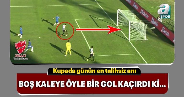 Adana Demirspor - Dersim 62 Spor maçında öyle bir gol kaçtı ki...