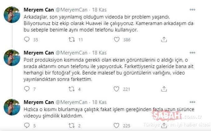 Ünlü YouTuber Meryem Can'ın çıplak fotoğrafı ifşa mı oldu? Sosyal medyanın diline düştü!