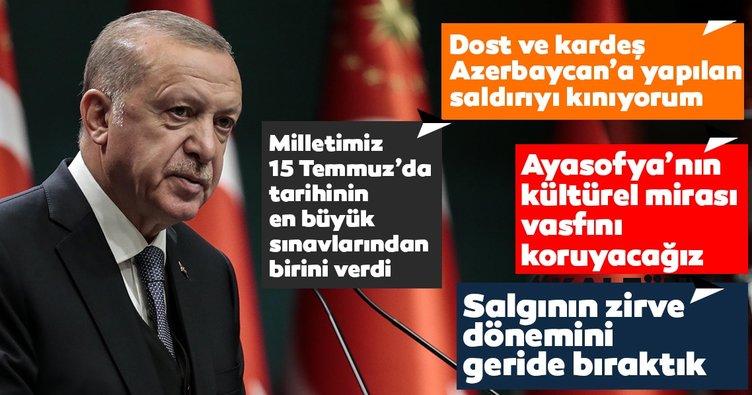Başkan Erdoğan Kabine Toplantısı'nın ardından açıklamalar! Türkiye bu konuda dünyaya örnek bir başarı ortaya koymuştur