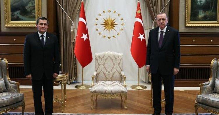 Başkan Erdoğan, Türkmenistan Dışişleri Bakanı Raşit Meredow'u kabul etti
