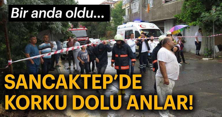 Son dakika: İstanbul Sancaktepe'de sağanak yağış nedeniyle bir okulun duvarı çöktü