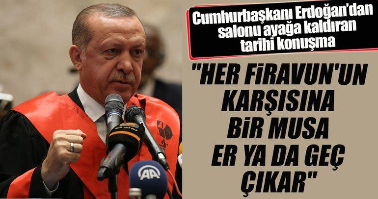 Cumhurbaşkanı Erdoğan'dan tarihi konuşma